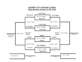 Updated Quarry City Boys Bracket