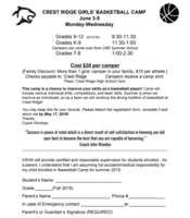 CR Girls' Basketball Camp