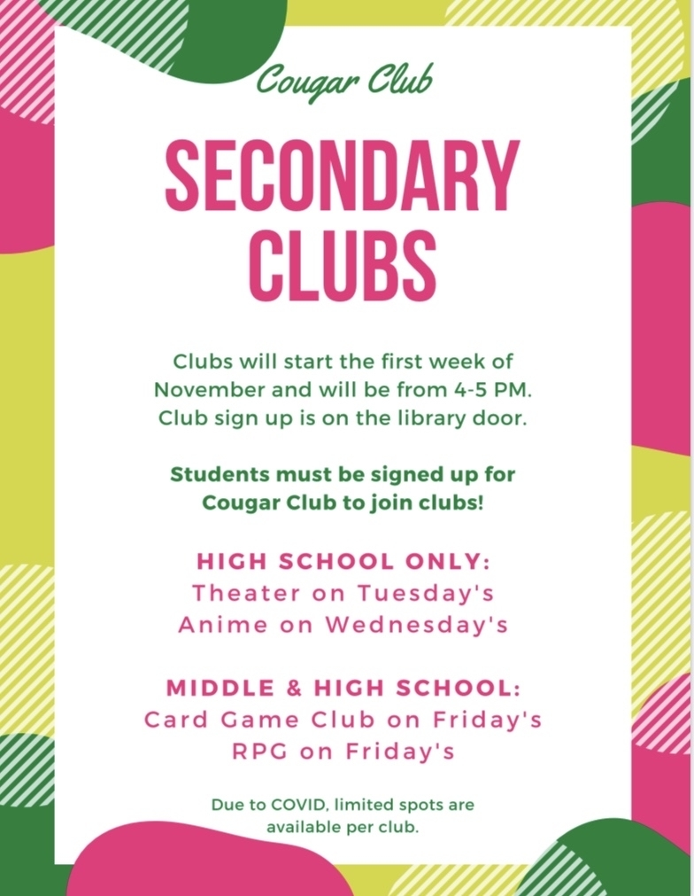 Secondary Clubs