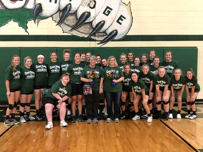 Cougar volleyball supports CR Family