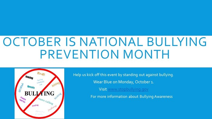 October is National Bullying Awareness Month