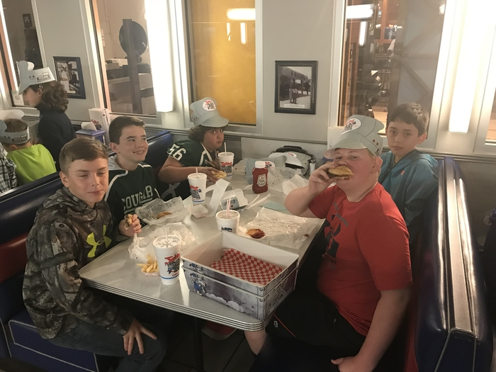 Some of our students chowing down at Fritz's.