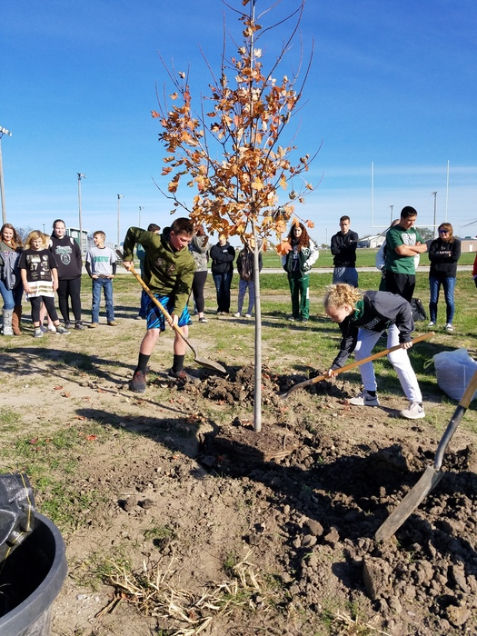 Students plant tree in memory of Conner Shippy