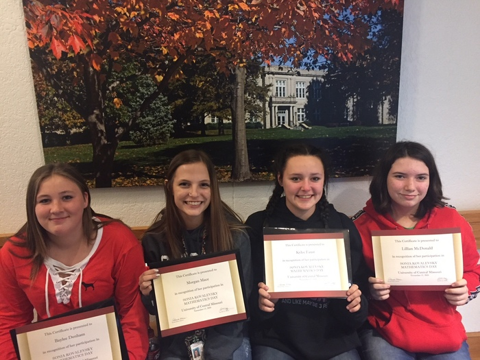 Congratulations to Lillian McDonald, Baylee Denham, Kylee Faust and Morgan Mace for a successful Sonia Kovelasky Day at UCM!