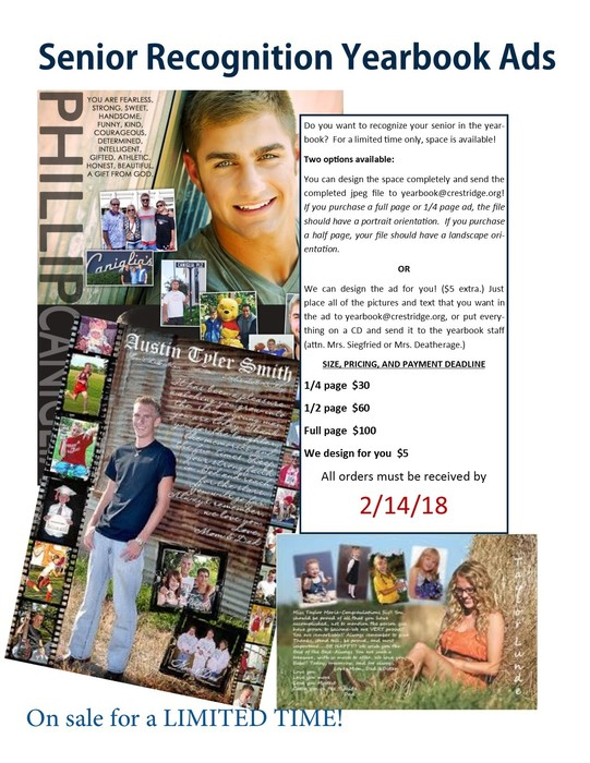 Senior Recognition Ad Flyer