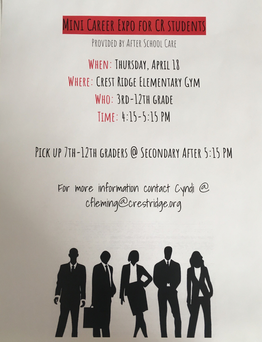 Mini Career Expo 4/18 from 4:15-4:15