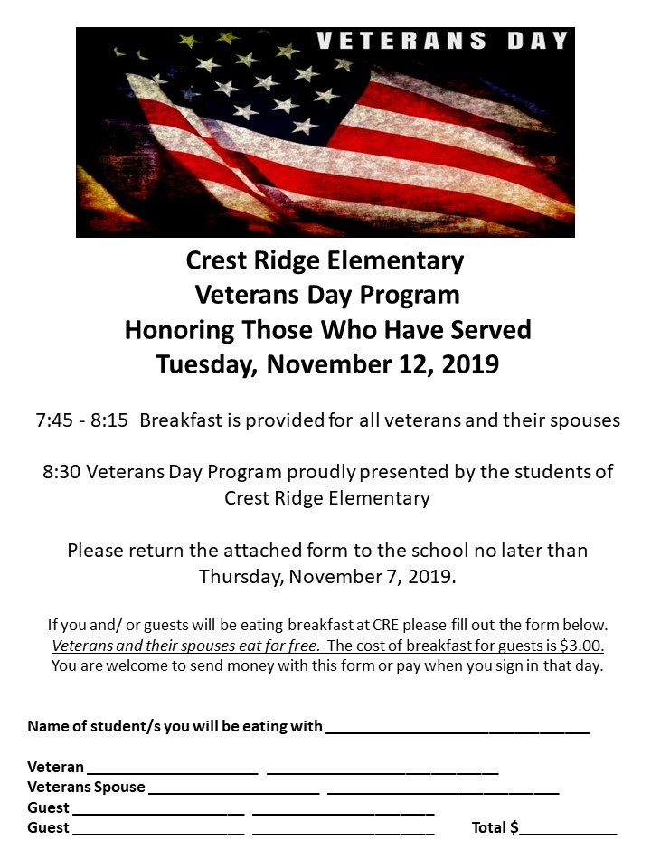 CRE Veterans Day Program