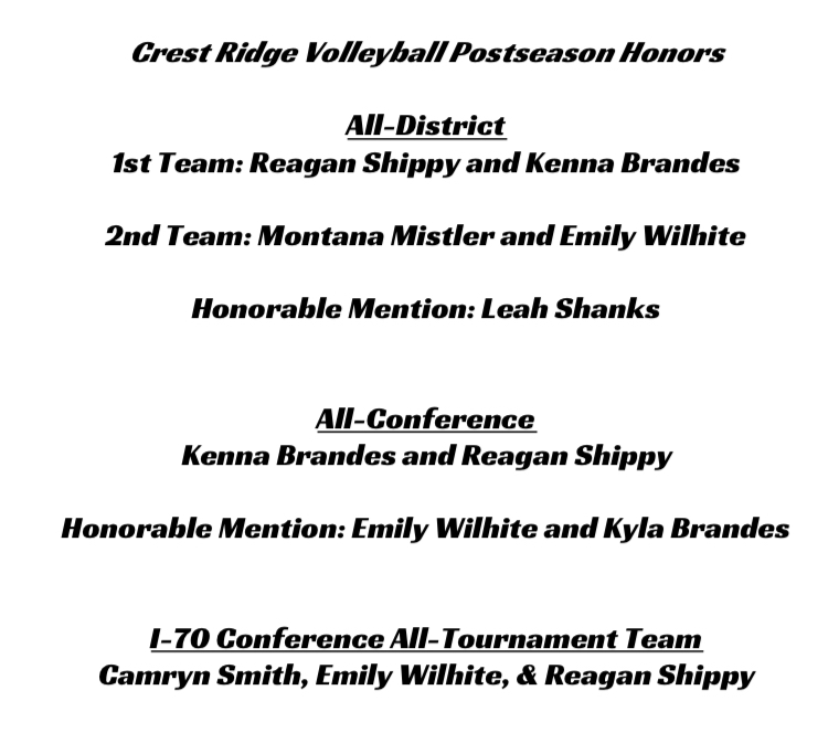 Volleyball Honors