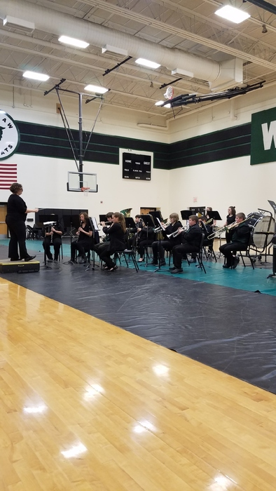 Junior High Band Performing at Warsaw Middle School